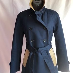 Stunning leather trimmed trench coat